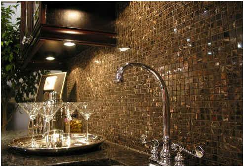 Mosaci-glass-tile-backsplash